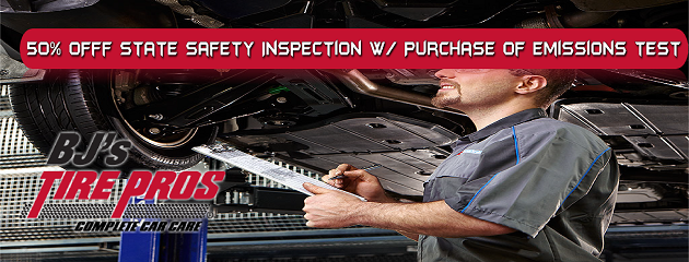 50% Off State Safety Inspection w/Purchase of Emissions Test